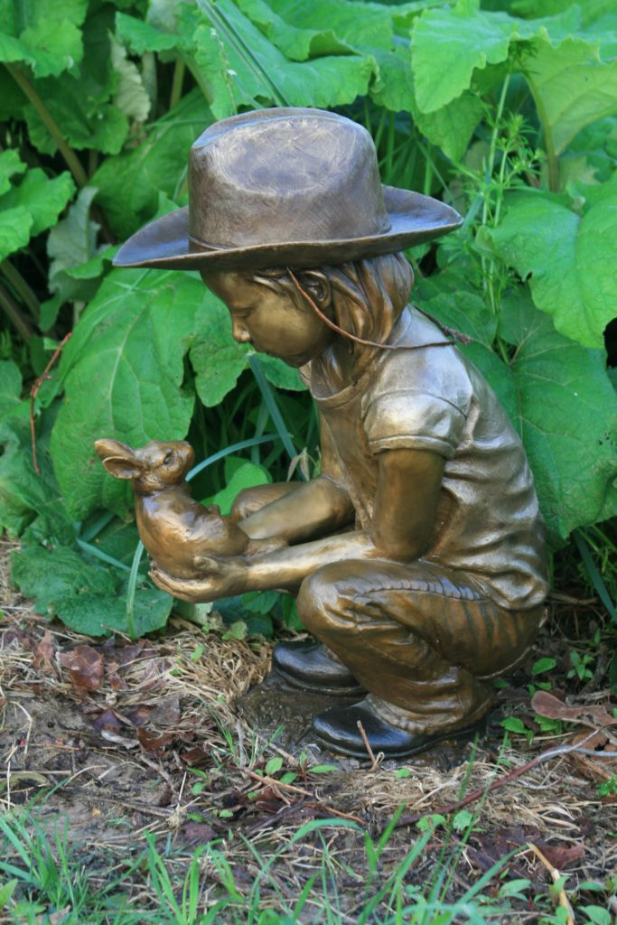 bronze garden sculptures