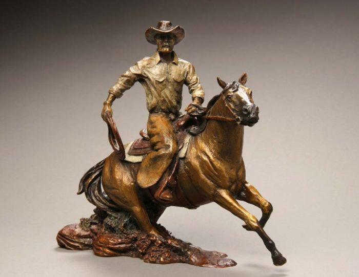 bronze sports statues