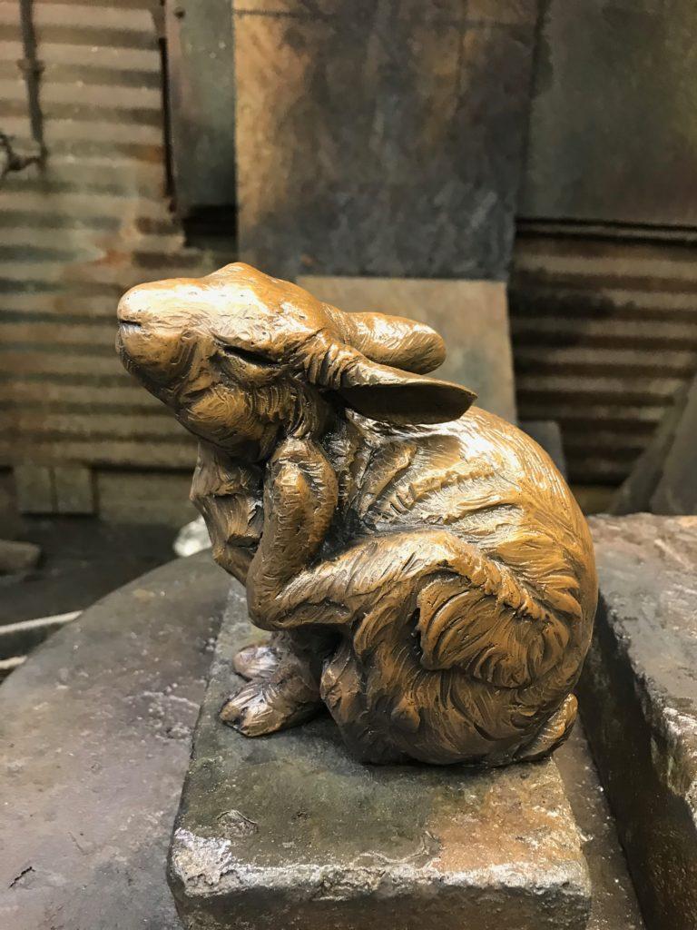 creating bronze sculptures